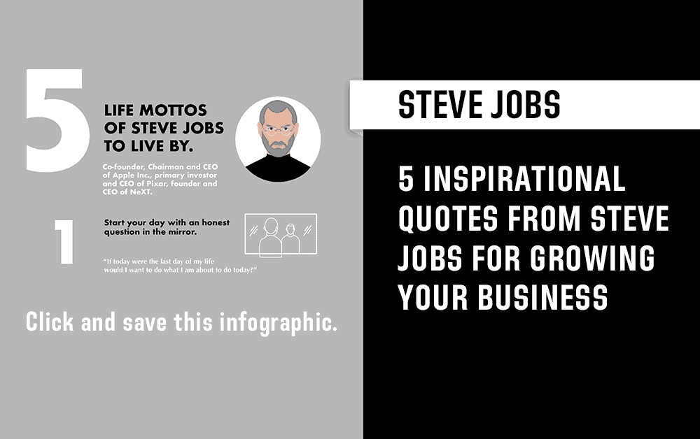 5 Quotes of Steve Jobs to Live by and Base Your Business Around (Infographic)